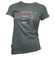 Santas Naughty List Womens T-Shirt