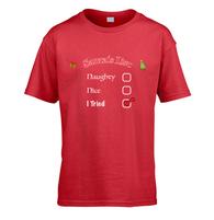 Santas Naughty List Kids T-Shirt