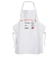 Santas Naughty List Apron