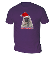 Bah Hum Pug Mens T-Shirt
