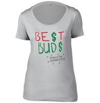 Best Buds Womens Scoop Neck T-Shirt