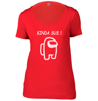 Kinda Sus Womens Scoop Neck T-Shirt