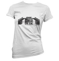 Mega Schrute Desk Womens T-Shirt