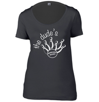 The Dudes Bowling Womens Scoop Neck T-Shirt