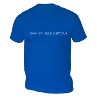 Save Blue Shirt Guy Mens T-Shirt