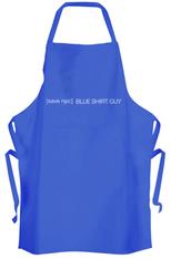 Save Blue Shirt Guy Apron