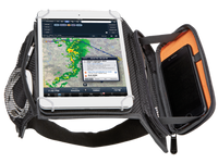 Flight Outfitters iPad Mini Kneeboard Open view  - SkySupplyUSA