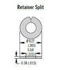SOUTHCO 82-32-101-20 SPLIT RING RETAINER 82-32-101-20 SkySupplyUSA.com