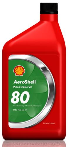 Aeroshell 80 Straight Grade Engine Oil (Quart)