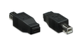 USB 2.0 B Male to Micro-AB Female Adapter, Black, Manhattan 308670