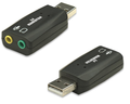 USB 2.0 Sound Adapter, 5.1 Channel, 3-D, Manhattan 150859