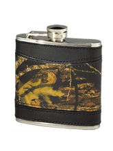 Mossy Oak Camo Leather Flask is a great gift for him - country boys that like a little whiskey