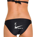 Just Shoot It Apparel including the black bikini swimsuit for women