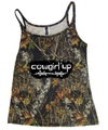 Cowgirl Up Tank Top on Mossy Oak Camouflage makes for the perfect gift or to buy for yourself - great mother's day gift or graduation, birthday etc