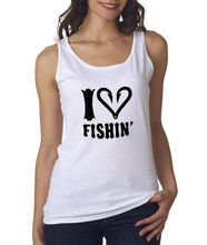 Girls I Love Fishing White Tank Top Shirt On Sale From Southern Sisters Designs