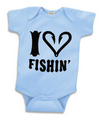 I Love Fishing Baby Boy Onesie 1 year old, New born, 18 month,  2year old