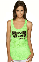 Mud, Moonshine and Makeup Girls Burnout Tank Top in Racerback  The Ultimate Country Girl Shirt