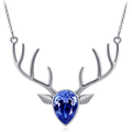 Deer Skull Antler Pendant Jewelry For girls, teens and ladies that hunt or love the outdoors.