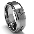 Men's Deer Wedding Ring