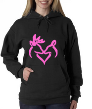Black With Pink Graphic - His Doe
