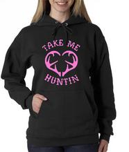 Ladies Take Me Hunting Pink Logo Hoodie