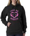Ladies Take Me Hunting Pink Logo Hoodie
