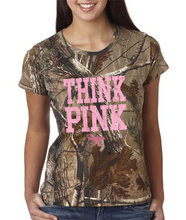 Realtree Camo Breast Cancer Shirt - Think Pink