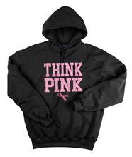 Think Pink Black Hoodie