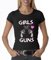 Girls Love Guns Crossed Guns With Pink Heart