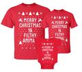 Family Merry Christmas Ya Filthy Animal Shirt