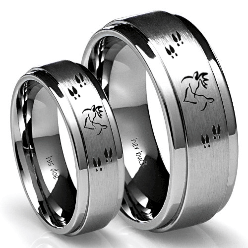Buck And Doe Rings Set Couples Promise Or Wedding