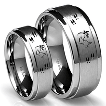 His buck and her doe couples ring set
