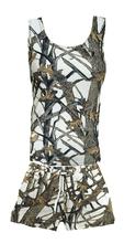 Huntress White Camouflage Pajama Set