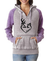 Love Buck and Doe Contrast Hoodie