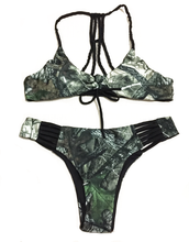 Huntress Camo Black Banded Bikini