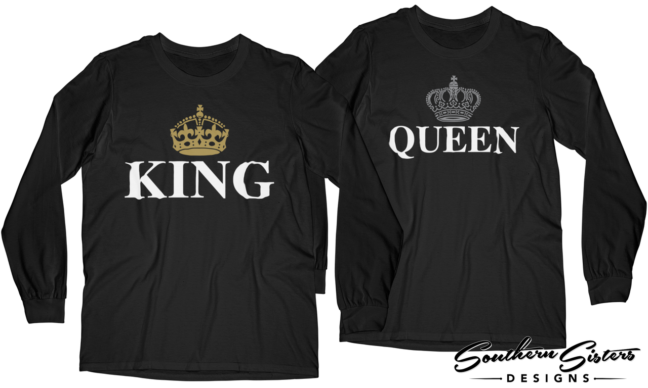 Matching Sleeve Queen King T Shirts Long And Yyfgvm67Ib