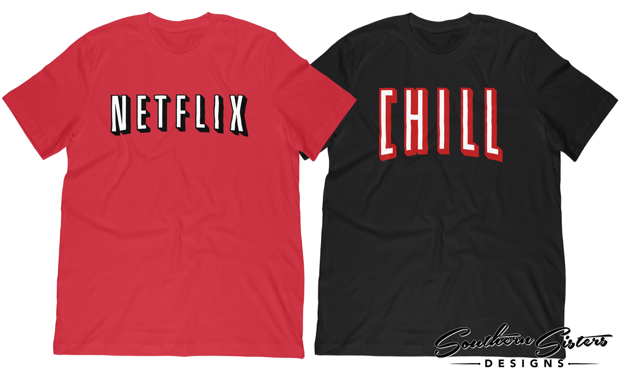 d711ed1cb Netflix and Chill Shirt combination for halloween or couples