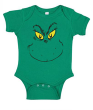 Grinch Baby Onesie for Christmas and more like Halloween