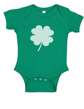St Patty's Day Baby Onesies Green with Shamrock