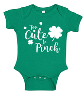 The perfect Saint Patricks Day or Irish Baby Onesies for girl or boy babies