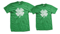 His and Hers Girlfriend and Boyfriend or husband and wife Green 4 leaf Clover Matching Shirt Set
