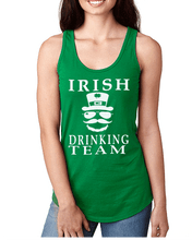 Leprechauns and Hats on this ladies Irish Drinking Team Top