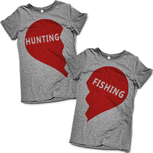 His and Hers Hunting and Fishing T Shirts Set