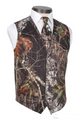 Mens Camo Formal Vest and Tie Great For Proms and Weddings