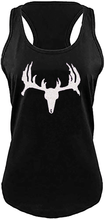 County Girls Tank Top with Deer Skull And Antler Glitter Print