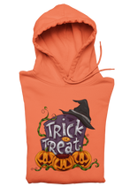 Pumpkin and Witches Hoodie For Halloween in Orange in Plus Sizes 2x, 3x 4x and 5x