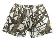 White Camo Pajama Bottom Sleep Shorts