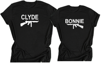 Bonnie and Clyde Shirts For Couples