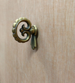 CENTURY FURNITURE LARGE FAUX KEY ANTIQUE BRASS DOOR PULL / DOOR KNOB / DRAWER PULL