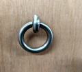 "VANGUARD FURNITURE 2 3/4""w x 3 1/4""h LARGE NICKEL ROUND DROP RING DRAWER PULL/ KNOB FOR CABINETS / DRESSERS / NIGHTSTANDS & ETC"